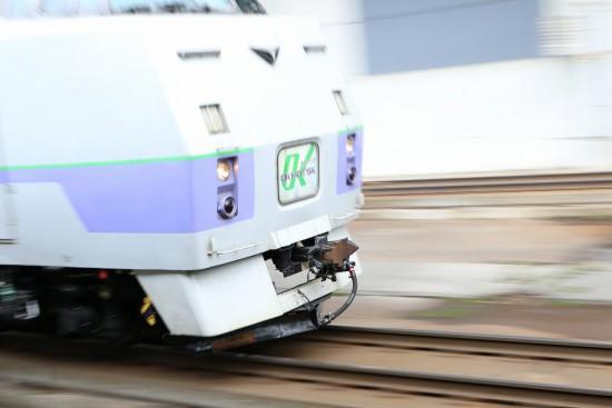 流し撮り 札幌駅-オホーツク 12D