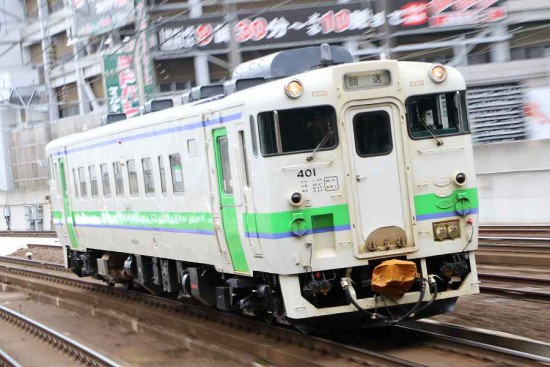 ズーム流し 流し撮り-札幌駅 キハ40