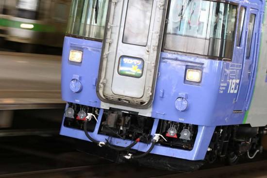 流し撮り サロベツ 札幌駅