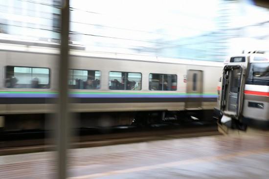 789系 731系 並走-流し撮り スーパーカムイ