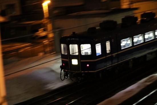 手稲駅 回送 夜間 流し撮り 急行はまなす