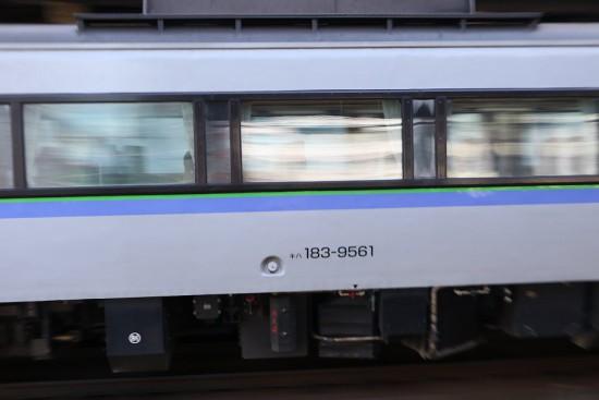 流し撮り 側面 列車番号