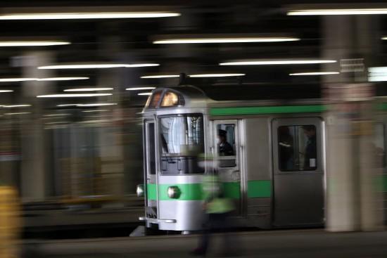 流し撮り 札幌駅 快速エアポート
