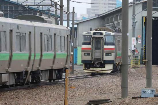 札幌運転所 731系 G-107 留置