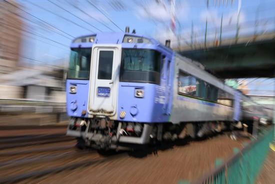 ズーム流し 流し撮り 列車 北斗 キハ183系 スローシャッター