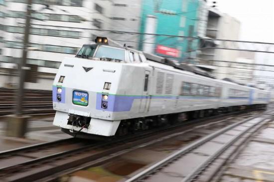 ズーム流し 流し撮り 列車 汽車 札幌駅 スラントサロベツ キハ183系