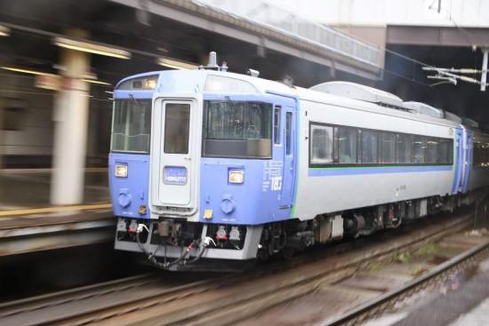 ズーム流し 流し撮り 列車 鉄道 札幌駅 北斗 キハ183系