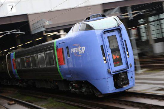 ズーム流し 流し撮り スーパーおおぞら 札幌駅 列車
