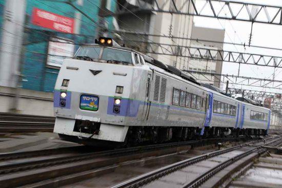 ズーム流し スラントサロベツ 札幌駅 汽車 列車