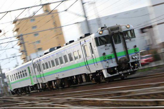 札幌 流し撮り 汽車 然別行き キハ40