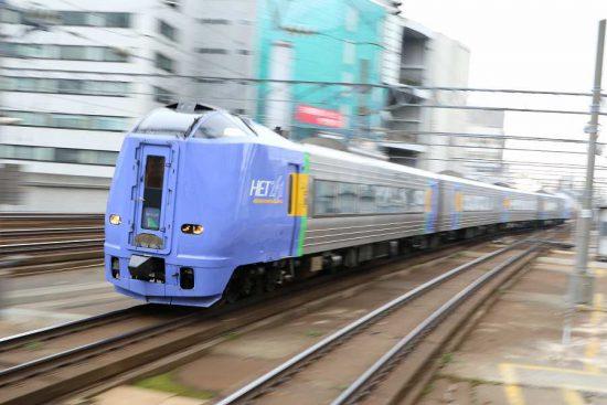 ズーム流し 流し撮り 列車 汽車 札幌駅 毎日 スーパー宗谷