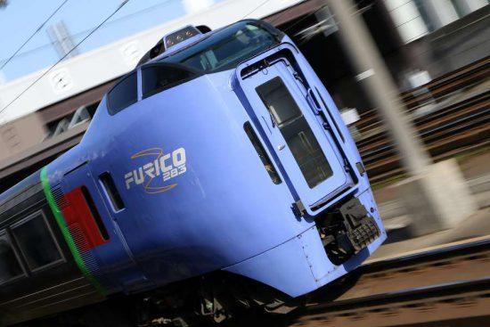 ズーム流し 列車 札幌駅 至近距離 キハ283系