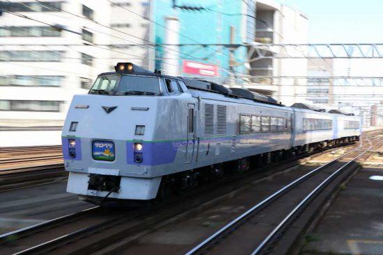 ズーム流し 列車 札幌駅 スラントノーズ サロベツ