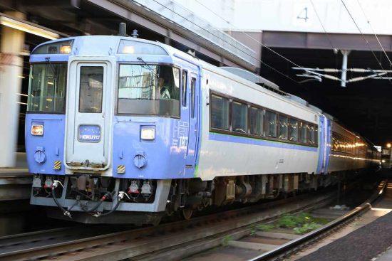 ズーム流し 列車 札幌駅 北斗12号 キハ183系
