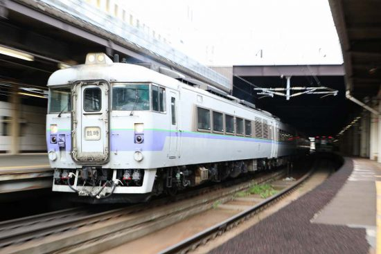 キハ183 白ボウズ 臨時 ズーム流し 札幌駅 列車