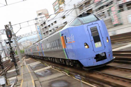 ズーム流し スーパーとかち 261系 札幌駅