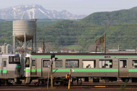 手稲山 貯水塔 電車 721系