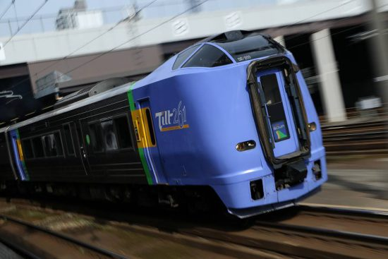 ズーム流し 列車 札幌駅 キハ261系 スーパー宗谷