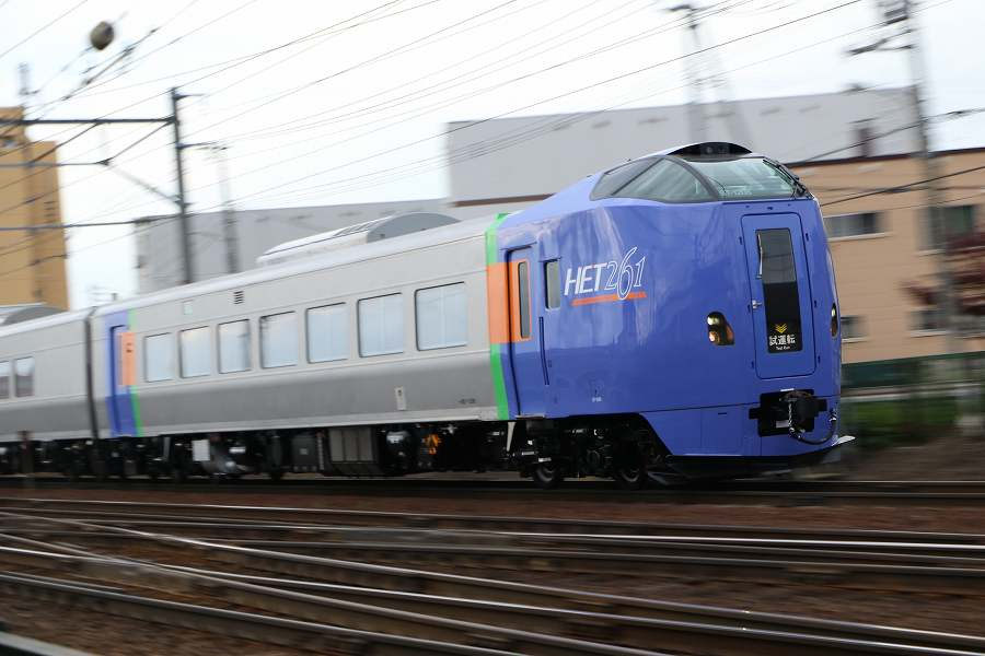 キハ261系1000番代の試運転-ST-1108/1208が札幌運転所方へ