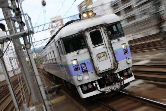 ズーム流し 白ボウズ 札幌駅