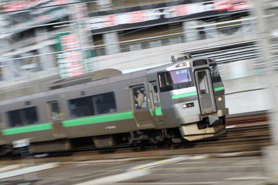 流し撮り 札幌駅 電車 列車 鉄道