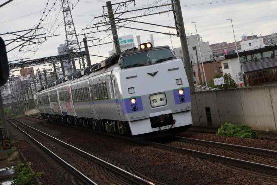 稲積公園駅 キハ183系 団体臨時列車