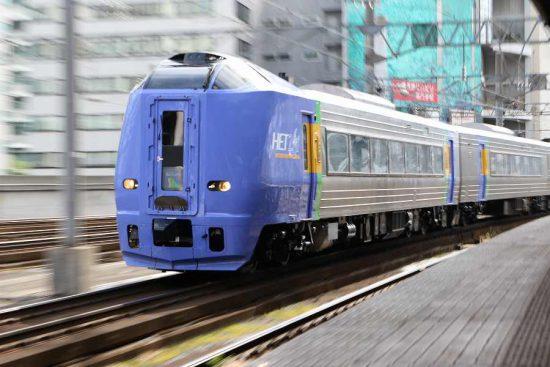 ズーム流し 流し撮り 列車 スーパー宗谷 札幌駅