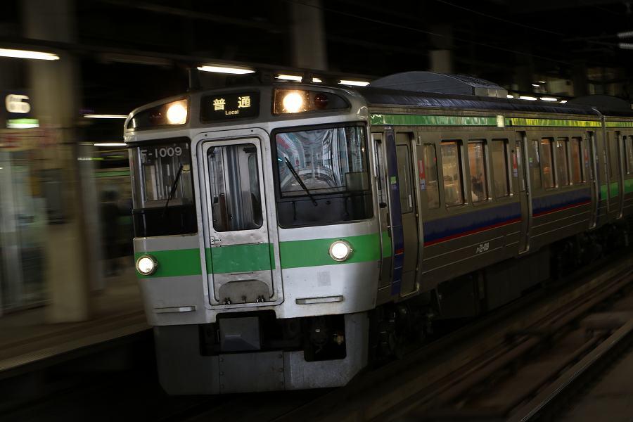 731系G-102の試運転-いつもと変わらぬ札幌駅とF-1009