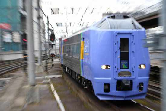 ズーム流し 流し撮り 札幌駅 スーパー宗谷 キハ261系100番代