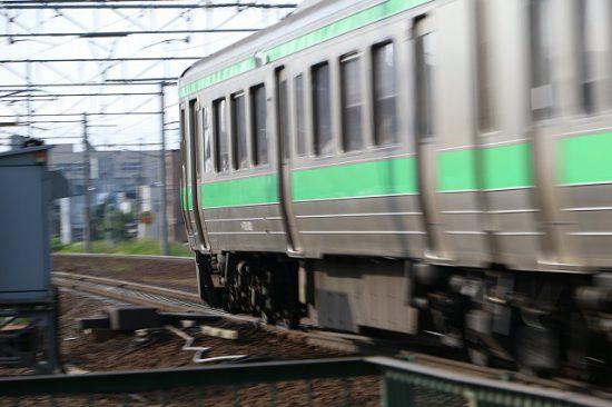 流し撮り 721系 列車