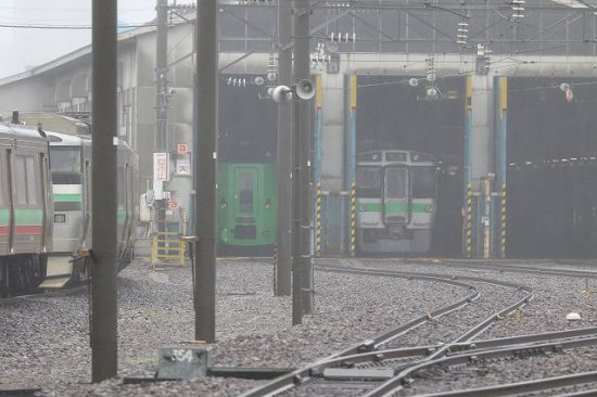 札幌運転所 右側車庫
