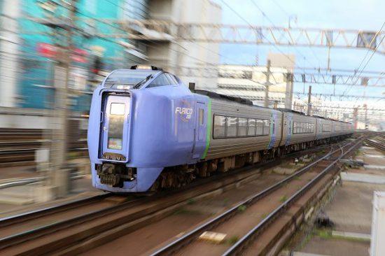 ズーム流し 流し撮り 札幌駅 スーパー北斗 キハ281系