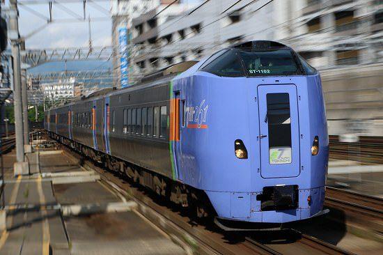 ズーム流し 列車 札幌駅 スーパーとかち