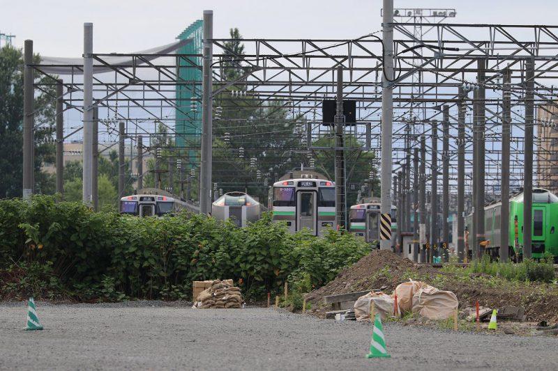 札幌運転所 留置線左側