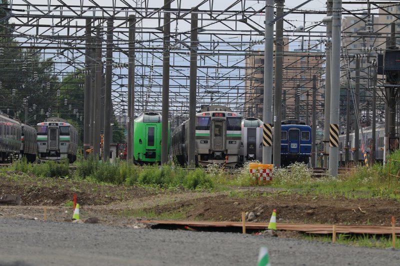 札幌運転所 留置線真ん中