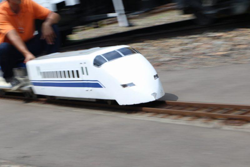 三笠鉄道博物館 ミニ新幹線 流し撮り