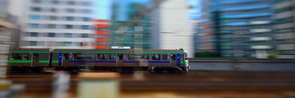 流し撮り ティルトシフト 列車 721系F-1009