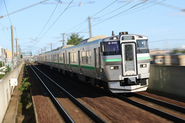 733系 B-3101 稲積公園駅 回送
