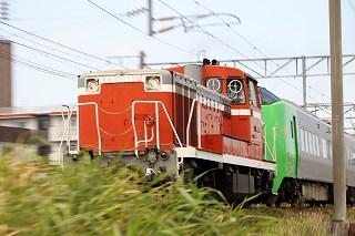 動画:緑の789系HE-105-普通列車を多めにいつもの場所の朝の時間