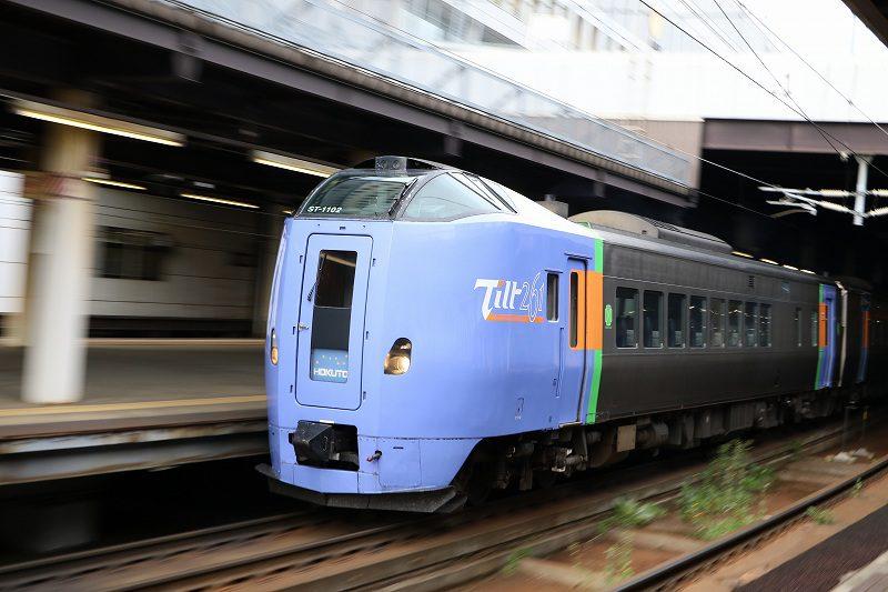 キハ261系 臨時北斗84号 札幌駅出発