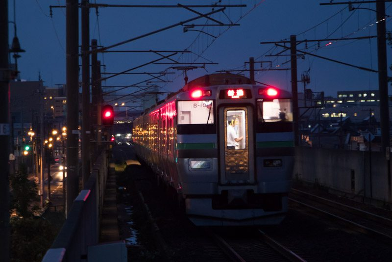 帰りの時間 稲積公園駅 733系