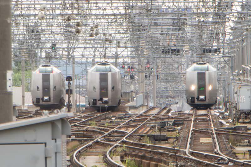 789系3つ揃い 札幌駅