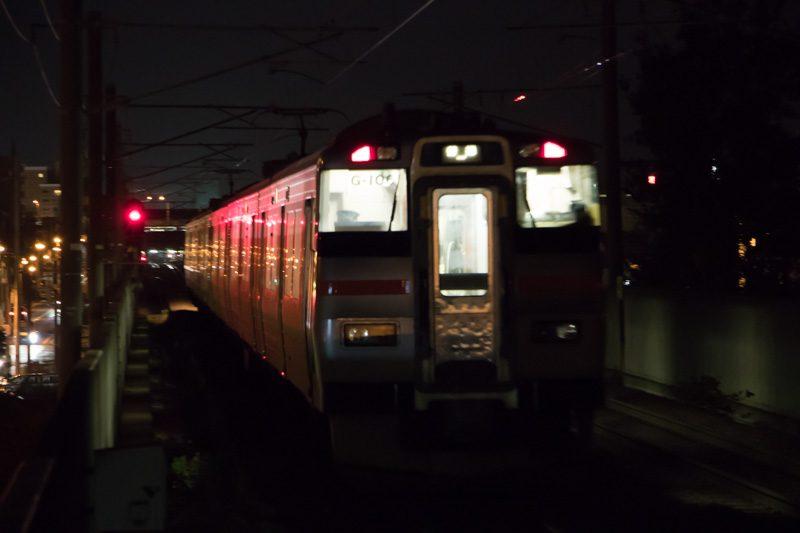 稲積公園駅 夜間撮影 スローシャッター