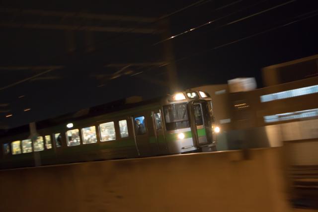 夜間撮影 稲積公園駅