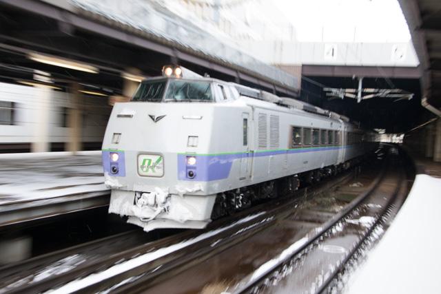 前後スラントノーズ オホーツク2号 札幌駅 キハ183系