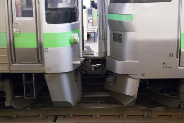 札幌駅 切り離し作業