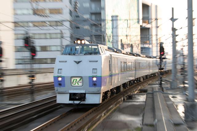 ズーム流し 流し撮り オホーツク 札幌駅