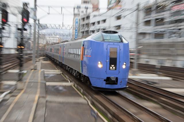 トマムゆき臨時特急 回送入線 キハ261系
