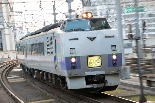 流し撮り ズーム流し 札幌駅 オホーツク1号