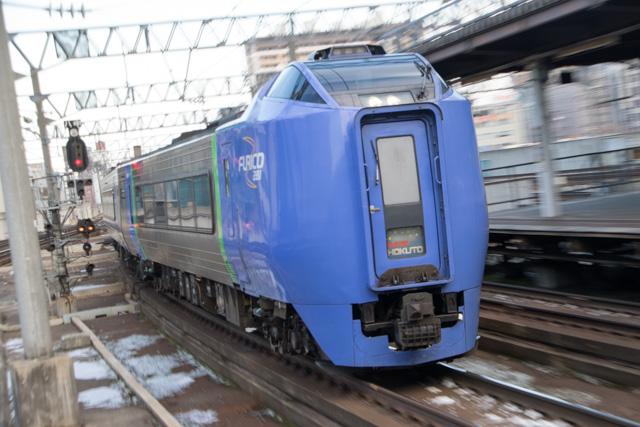 ズーム流し 列車 電車 札幌駅 キハ281系スーパー北斗